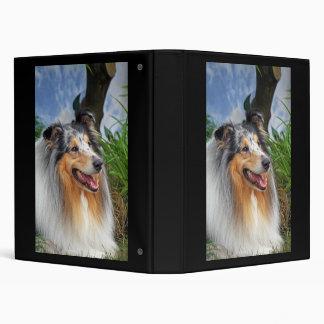 Beautiful Collie dog blue merle binder, gift Vinyl Binder