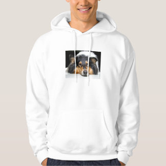 Beautiful collie dog unisex mens, ladies hoody