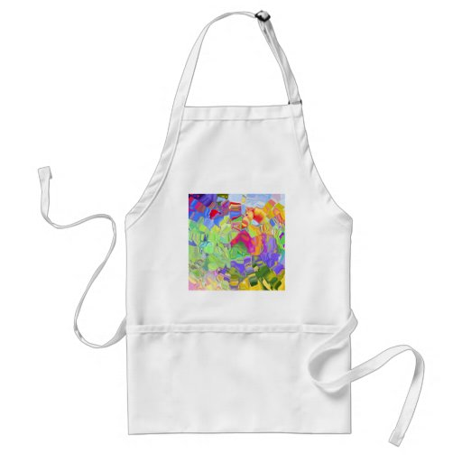 Beautiful Colorful Abstract Art Ice Cubes Gifts Aprons