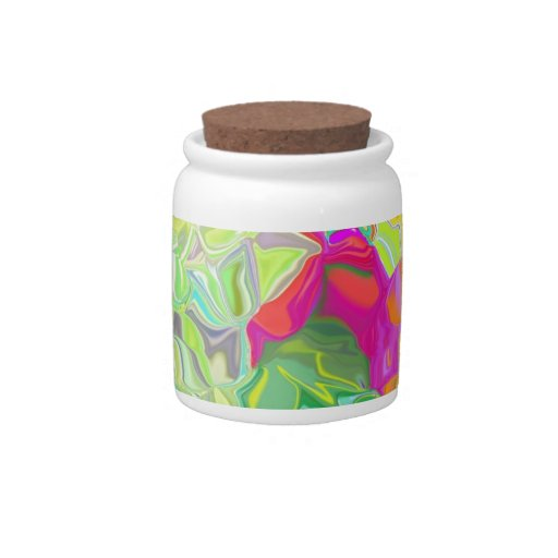 Beautiful Colorful Abstract Art Ice Cubes Gifts Candy Dish