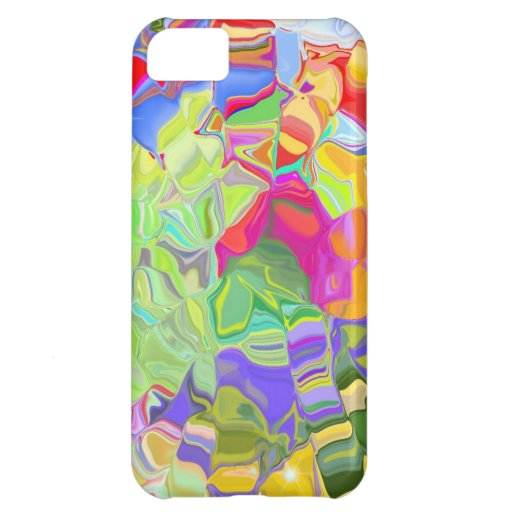 Beautiful Colorful Abstract Art Ice Cubes Gifts Case For iPhone 5C