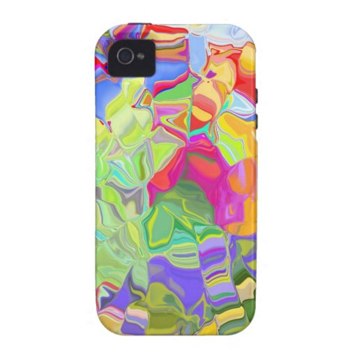 Beautiful Colorful Abstract Art Ice Cubes Gifts Vibe iPhone 4 Cover