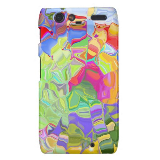 Beautiful Colorful Abstract Art Ice Cubes Gifts Motorola Droid RAZR Case