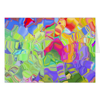 Beautiful Colorful Abstract Art Ice Cubes Gifts Greeting Card