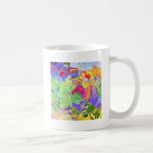 Beautiful Colorful Abstract Art Ice Cubes Gifts Mug