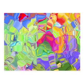 Beautiful Colorful Abstract Art Ice Cubes Gifts Postcard