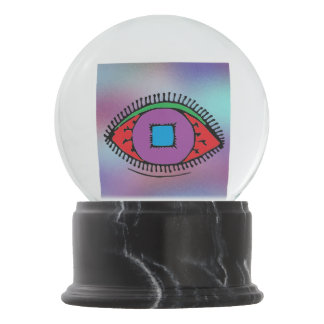 Beautiful Colorful Abstract Eye Design Snow Globe