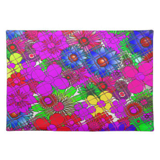 Beautiful colorful amazing floral pattern design a placemat