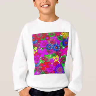 Beautiful colorful amazing floral pattern design a sweatshirt