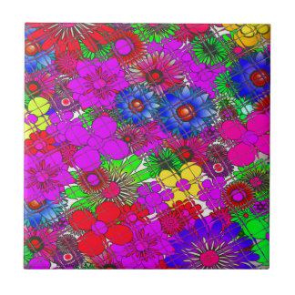 Beautiful colorful amazing floral pattern design a tile
