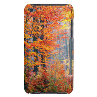 Beautiful colorful autumn fall forest sunbeams barely there iPod cases