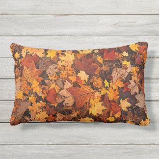 Beautiful Colorful Autumn Leaves Lumbar Pillow