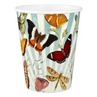 Beautiful Colorful Butterflies Nature Paper Cups Paper Cup