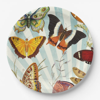 Beautiful Colorful Butterflies Nature Paper Plates