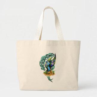 Beautiful Colorful Celtic Forest Faery Jumbo Tote Bag