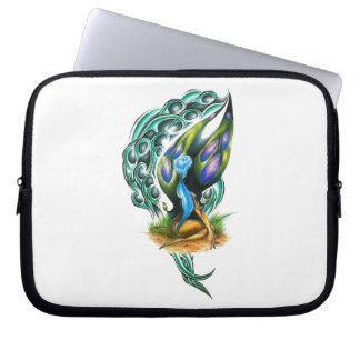 Beautiful Colorful Celtic Forest Faery Laptop Computer Sleeve