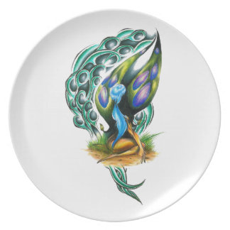 Beautiful Colorful Celtic Forest Faery Party Plates