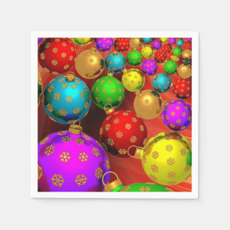 Beautiful, Colorful, Christmas Ornaments Paper Napkins