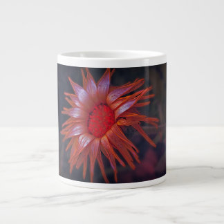Beautiful, colorful flower on a mug