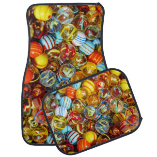 beautiful colorful glass marble balls photograph car mat