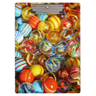 beautiful colorful glass marble balls photograph clipboard