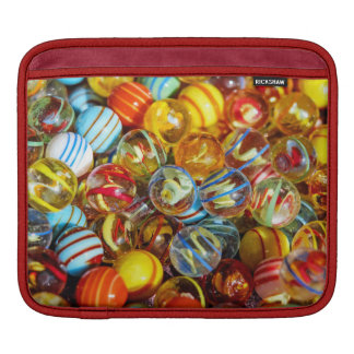 beautiful colorful glass marble balls photograph iPad sleeve