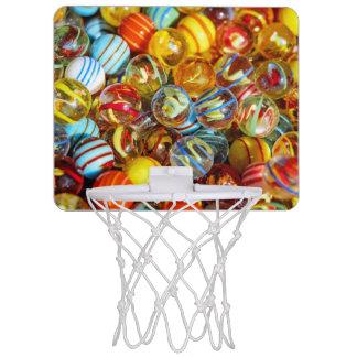 beautiful colorful glass marble balls photograph mini basketball hoop