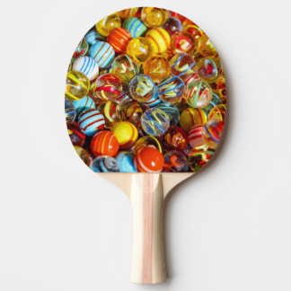 beautiful colorful glass marble balls photograph ping pong paddle