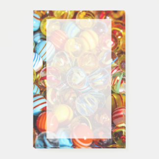 beautiful colorful glass marble balls photograph post-it® notes