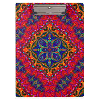 Beautiful colorful Kaleidoscope Clipboard