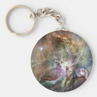 Beautiful, colorful Orion nebula Basic Round Button Keychain