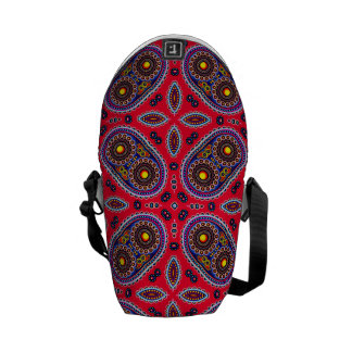 Beautiful Colorful Paisley Pattern,Red Paisley Commuter Bag