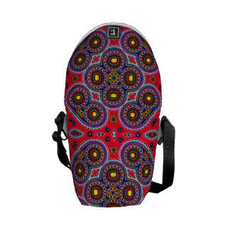 Beautiful Colorful Paisley Pattern,Red Paisley Commuter Bags
