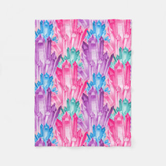 Beautiful Colorful Pastel Crystals For Teen Girl Fleece Blanket