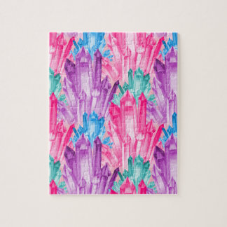 Beautiful Colorful Pastel Crystals For Teen Girl Jigsaw Puzzle