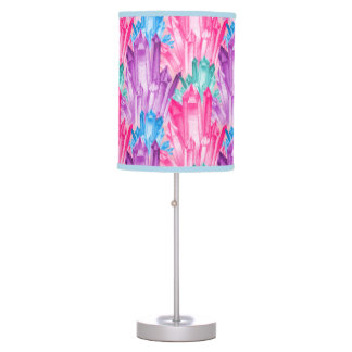 Beautiful Colorful Pastel Crystals For Teen Girl Table Lamp