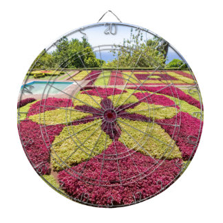 Beautiful colorful patterns and shapes in garden dartboard