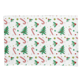 Beautiful Colorful Retro Christmas Holiday Pillowcase