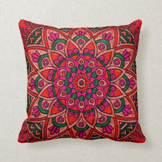 Beautiful Colorful Stained Glass Window Pillow
