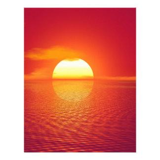 Beautiful colorful sunset custom letterhead