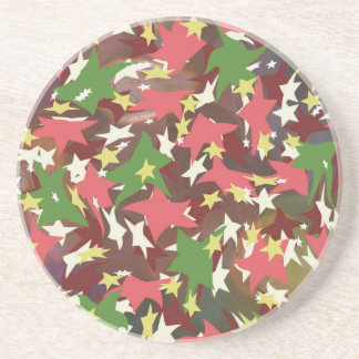 Beautiful colorful swirling stars coaster