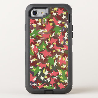 Beautiful colorful swirling stars OtterBox defender iPhone 8/7 case