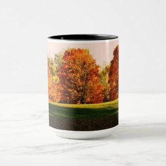 Beautiful colorful trees mug