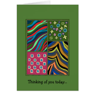 Beautiful Colorful Tropical Green Thoughtful Card