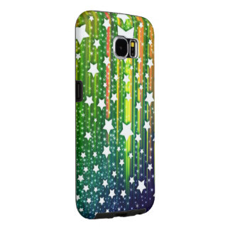 beautiful colorful vector drop down stars samsung galaxy s6 cases