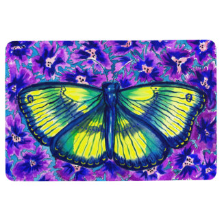 Beautiful Colorful Watercolour Butterfly Floor Mat