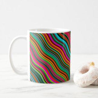 Beautiful Colorful Wavy Stripe Pattern Coffee Mug