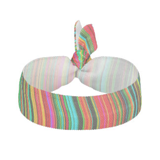 Beautiful Colorful Wavy Stripe Pattern Hair Tie