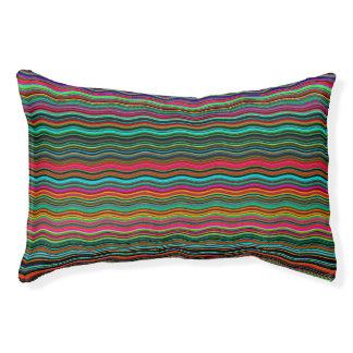 Beautiful Colorful Wavy Stripe Pattern Pet Bed