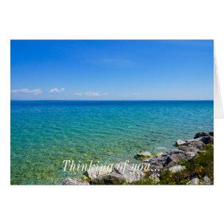 Beautiful Colors Of Lake Huron Card